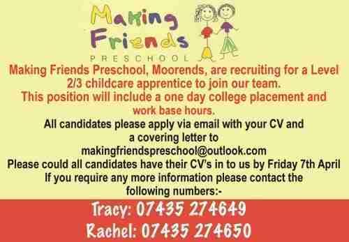 Making Friends Preschool_Moorends_Job Ad 002