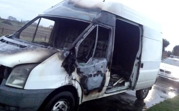 Stolen Van Found Torched In Lay-By