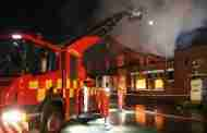 Firefighters Tackle Blaze At Disused Club