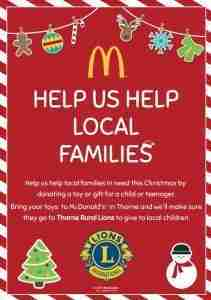 Mcdonald's Thorne_Thorne Rural Lions Christmas Toy Appeal 2017