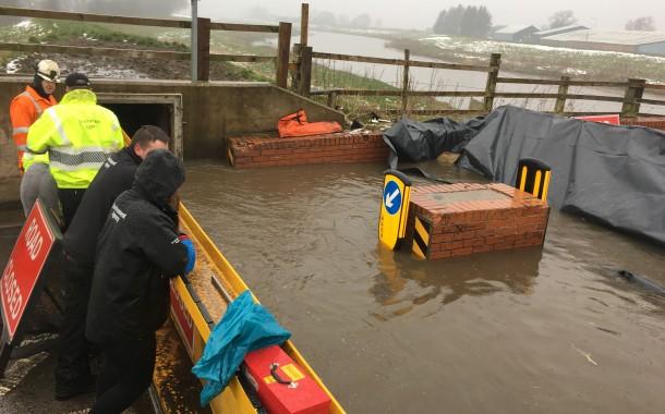 Training Exercise To Test Flood Gates