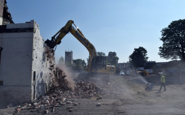 Demolition Of Buildings Underway