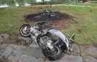 Scooter Burnt Out In Park
