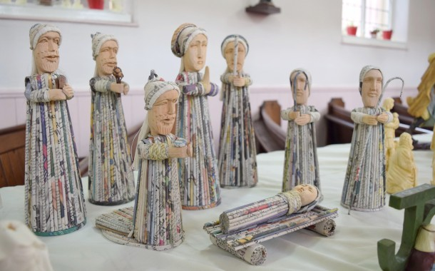 Visitors Welcome To Church Crib Festival