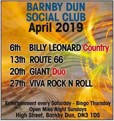 Barnby Dun Social_April19