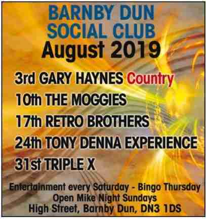 Barnby Dun Social_Aug 19