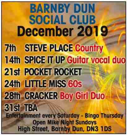 Barnby Dun Social_Dec19