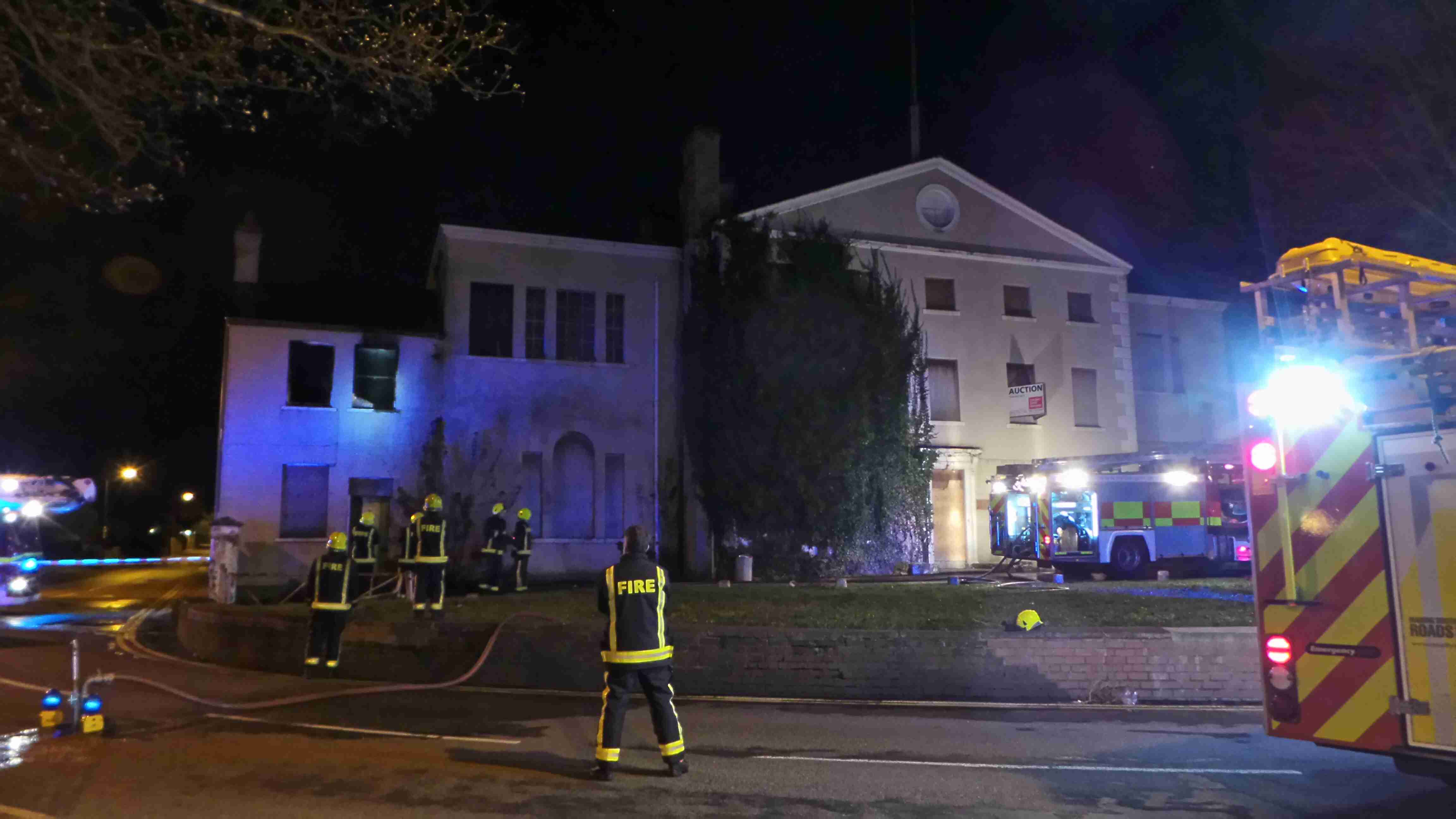Fire at Thorne Hall