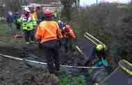 Firefighters Rescue Horse from Ditch