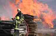 Firefighters Tackle Doncaster Pallet Blaze
