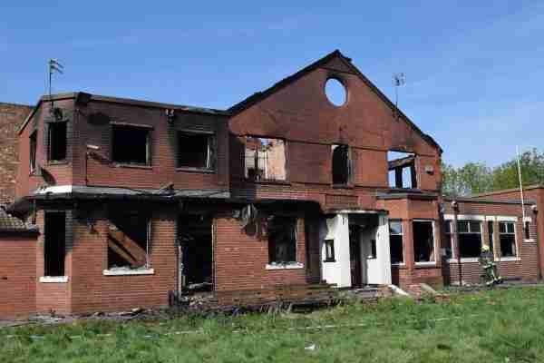 The club has been left extensively damaged by the fire