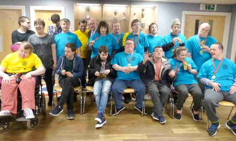 Support Group Celebrate Success At Disability Games