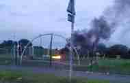 Firefighters Attend Recreation Ground Fire