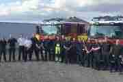 Fire Crews Use Wind Farm To Test Height Rescue Response