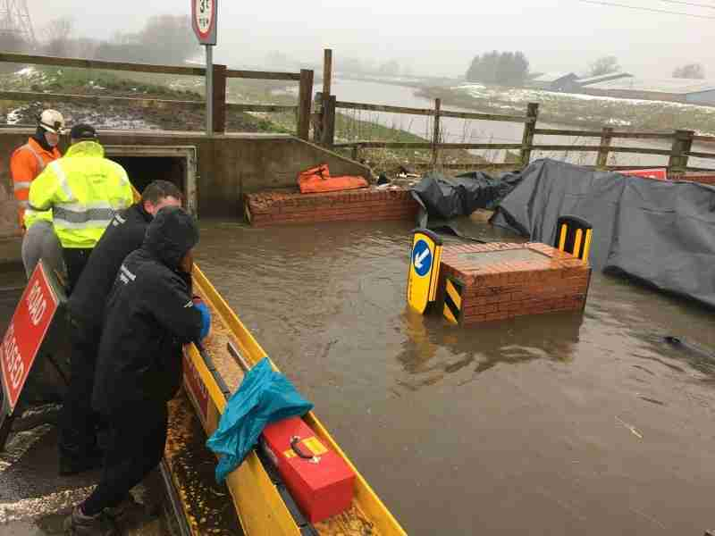 Training Exercise To Test Flood Gates