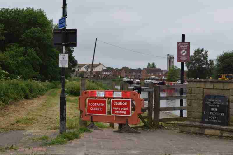 Towpath Closed For Improvement Works