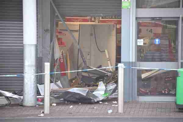 Damage was caused to the store.
