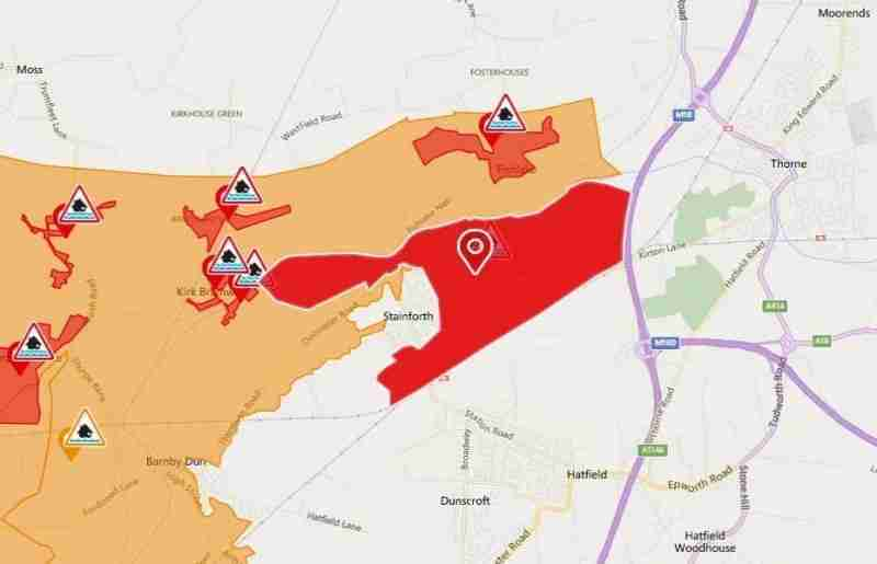 Emergency Services Asking People To Avoid Flood Area