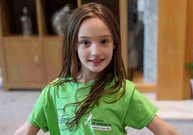 Eight-year-old Fundraiser Completes 2.6 Challenge For Air Ambulance